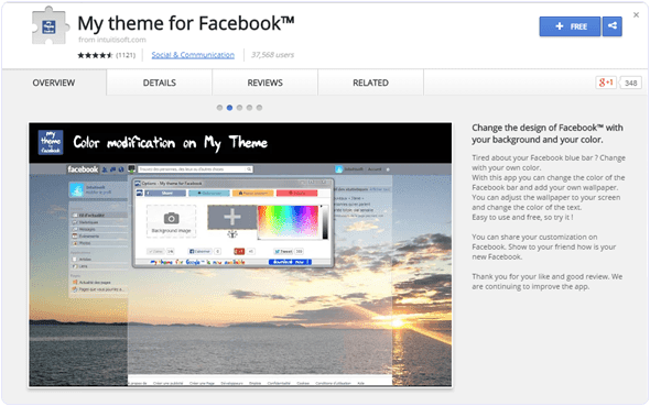 My-theme-for-Facebook-chrome-extension
