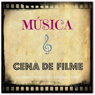 """Imagem de banner de celulóide para a postagem da BC Musical """"Música e Cena de Filme"""""""