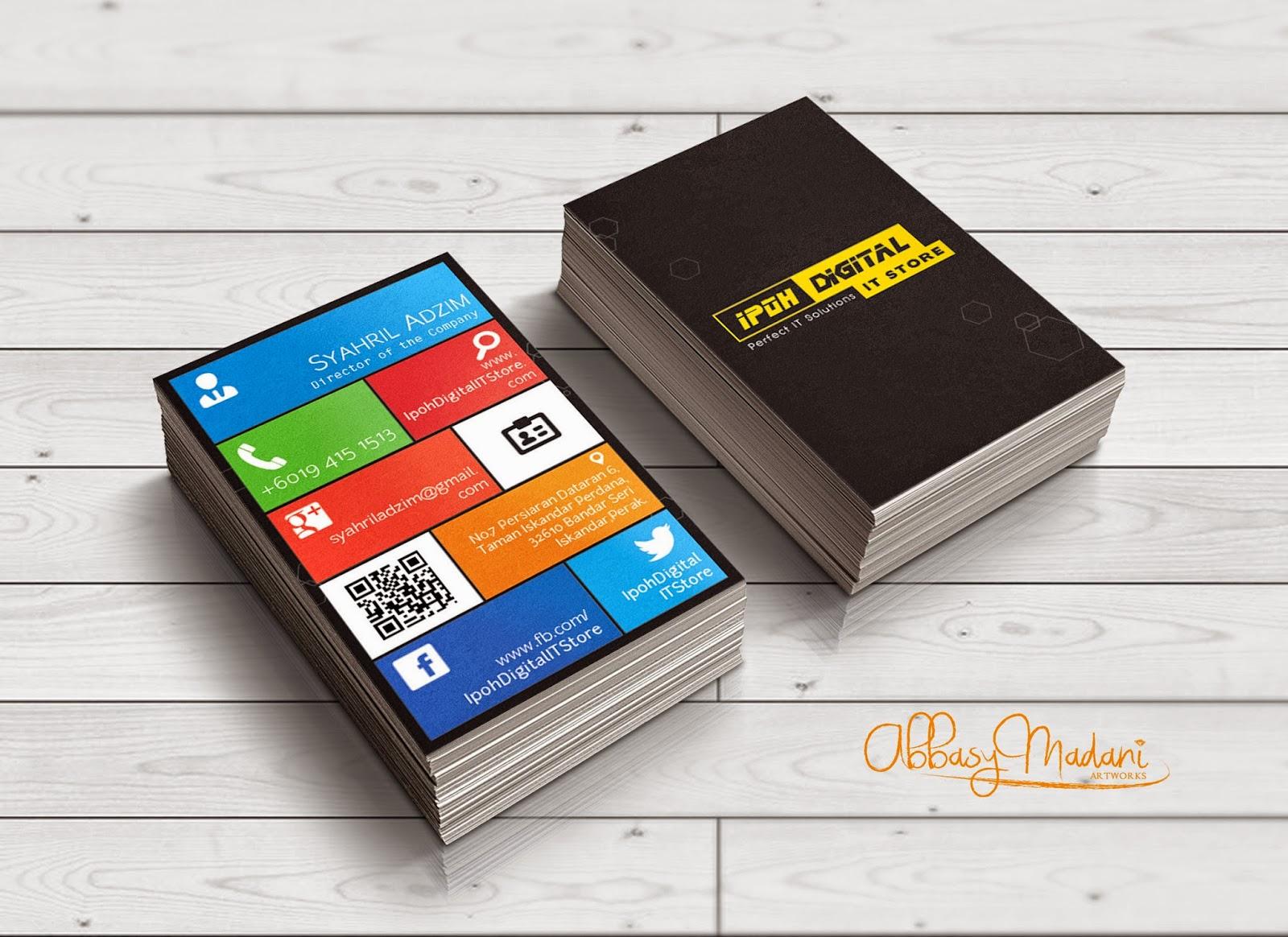 Business Card Design : Ipoh Digital IT Store ~ Portfolio | Abbasjj