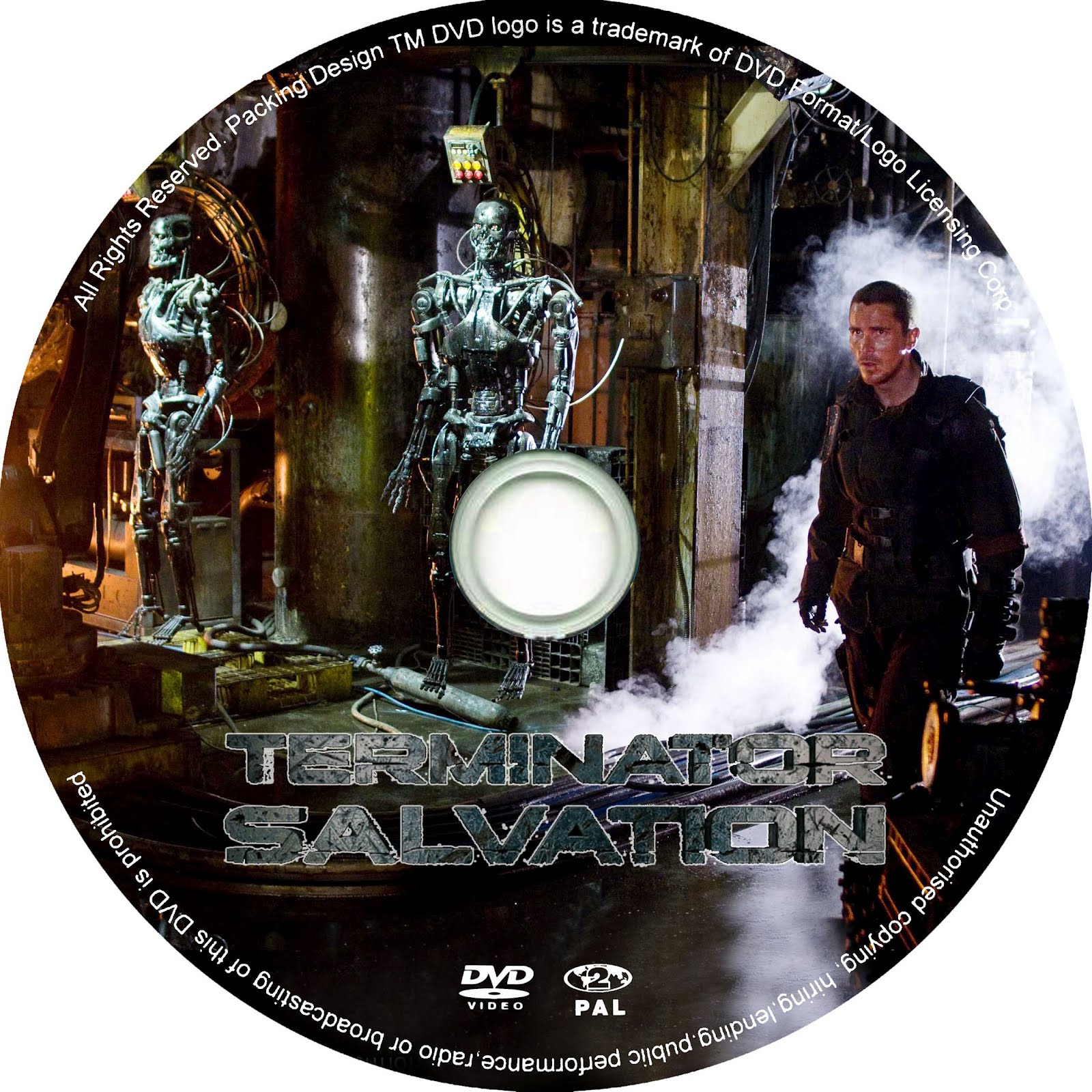 Terminator Salvation DVD Label Art
