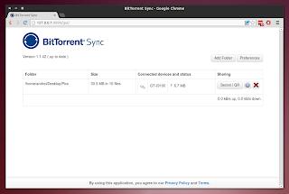 BitTorrent Sync WebUI