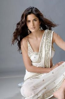 Katrina Kaif In White Saree