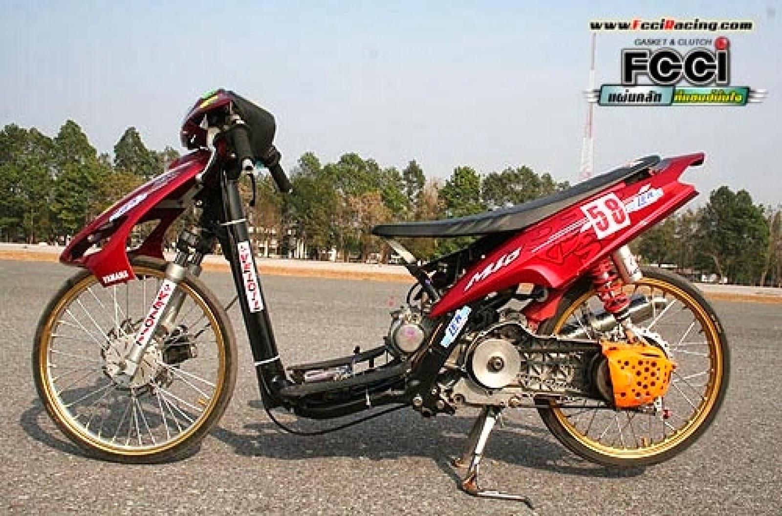 gambar motor drag mio | gambar modifikasi motor