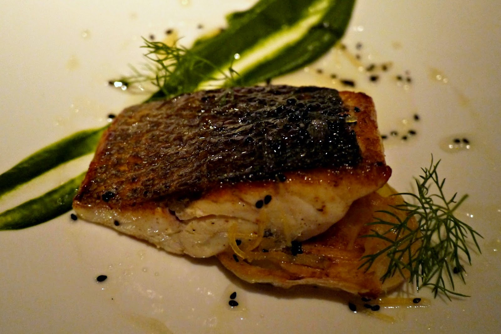 Quaglino's sea bass