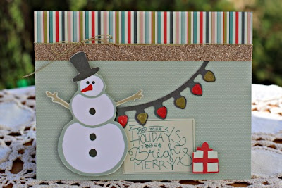 Snowman card featuring Merry Mistletoe Card Kit by SEI designed by Rhonda Van Ginkel