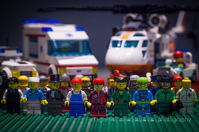 Lego Mountain Rescue Team. Volunteers