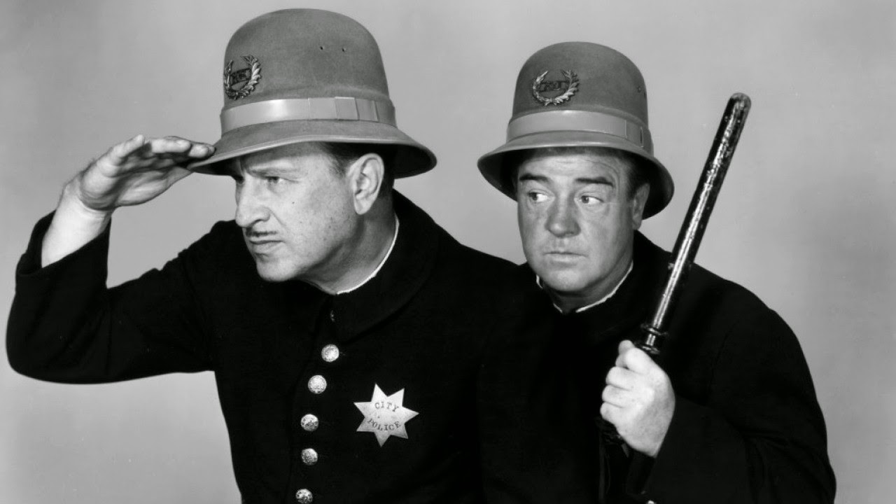 Abbott & Costello meet the Keystone Cops.