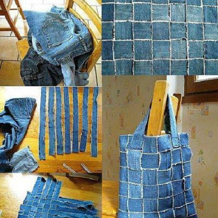 EcoNotas.com: Carteras Recicladas con Jeans