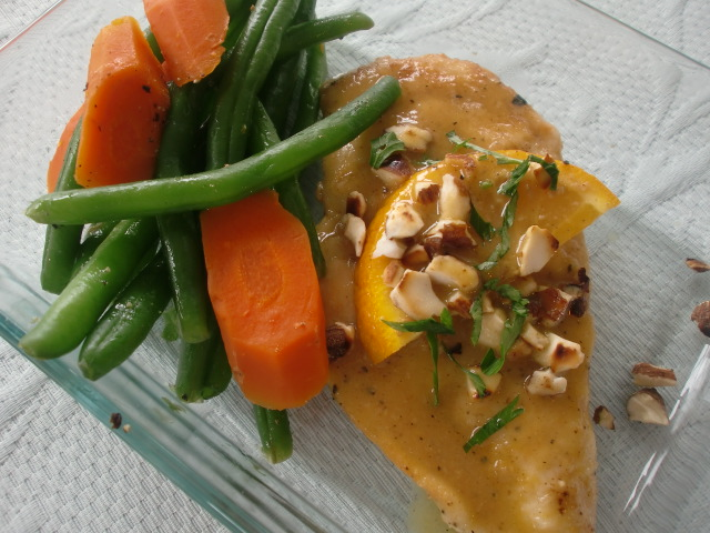 ... for a Year and Beyond: Orange Glazed Chicken with Toasted Almonds