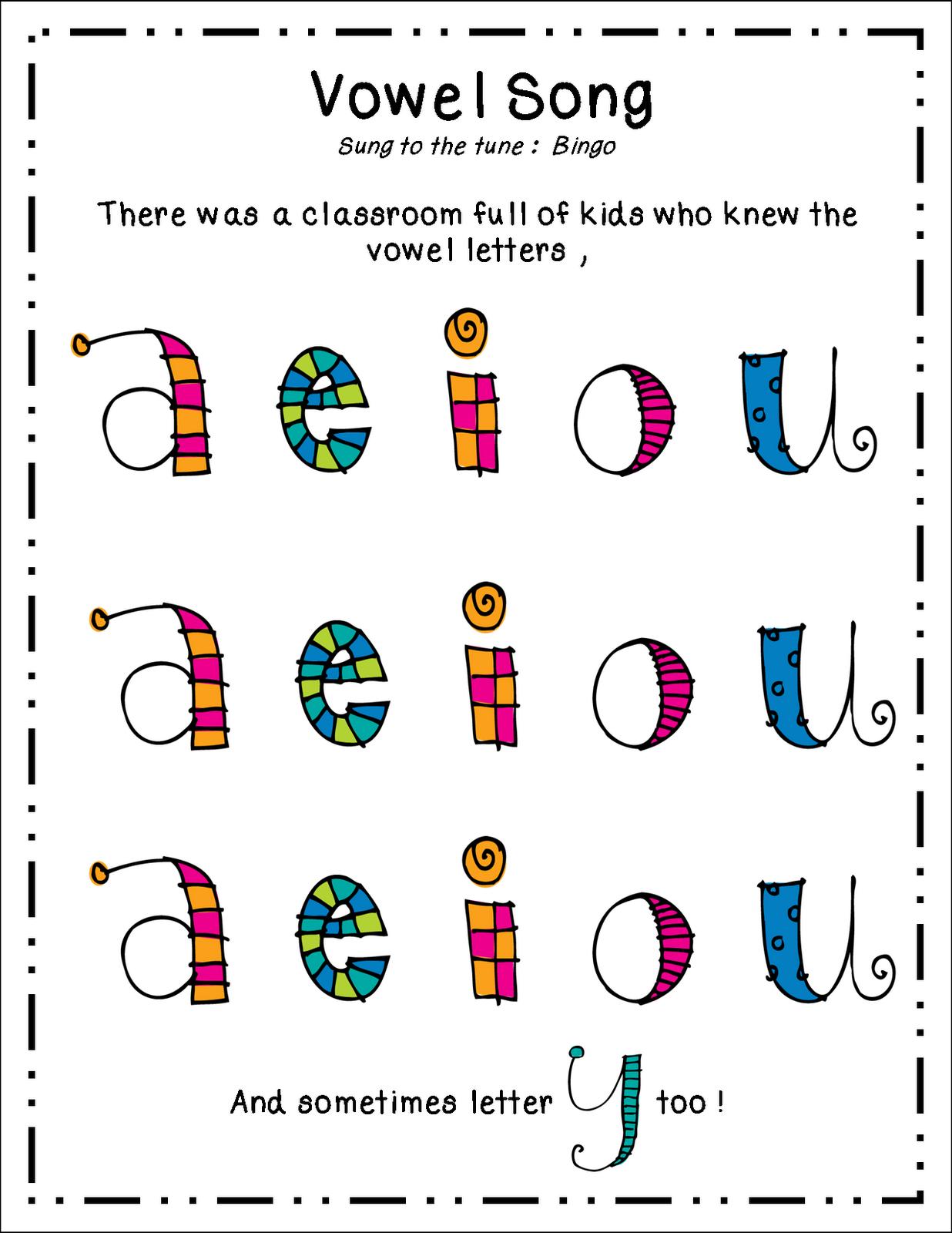 inspired by kindergarten vowels freebie. Black Bedroom Furniture Sets. Home Design Ideas