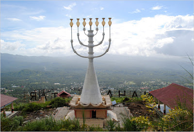 menorah in Manado, Indonesia