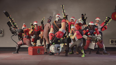 Team Fortress 2 Characters Christmas HD Wallpaper