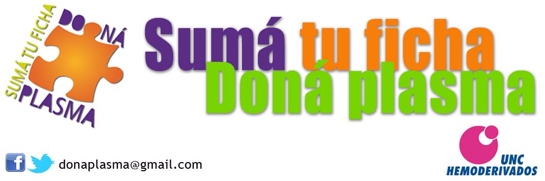 """Campaña de Donación de Plasma """"Sumá tu Ficha"""""""