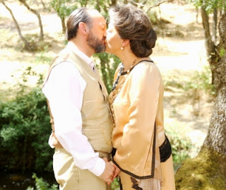 Francisca e Raimundo foto bacio Il segreto