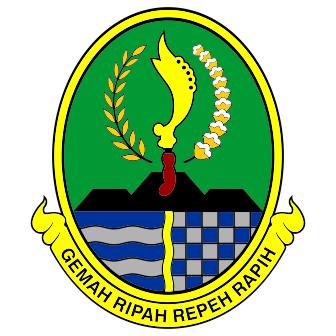 kumpulan logo-logo provinsi di Indonesia, jawa barat, coreldraw, vector, cdr, lambang