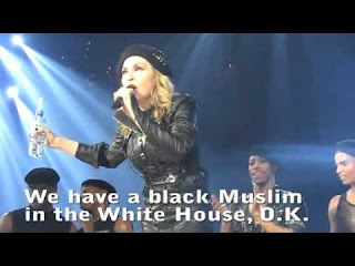 Chatter busy madonna on obama he is a black muslim in for Does obama have a tattoo