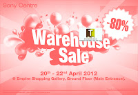 SONY Warehouse Sale 2012