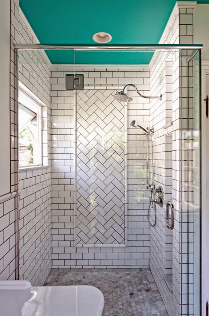 Awesome Gallery Herringbone Wood Tile Bathroom