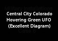 Central City Colorado Hovering Green UFO (Excellent Diagram)