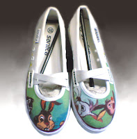 Sepatu Lukis jean 223 Cewek Rp 125 000,sepatu lukis kupu kupu,sepatu lukis