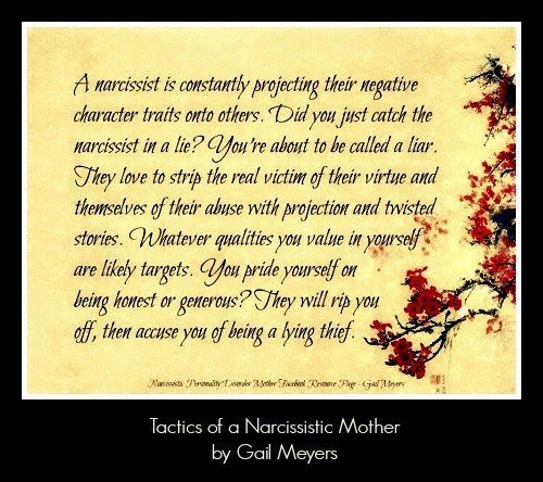 Tactics of a Narcissistic Mother Accusations Quote by Gail Meyers