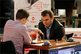 Maxime Vachier-Lagrave (2742) 1-0 Shakhriyar Mamedyarov (2759) © Chessbase