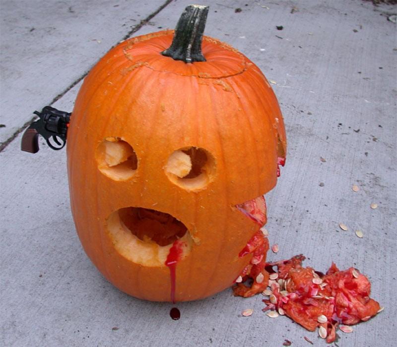 Halloween græskar selvmord / Pumpkin suicide