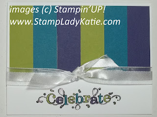 Card made with Stampin'UP! sale-a-bration stamp set: Outlined Occasions. Made by StampLadyKatie
