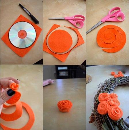 Como hacer flores de fieltro manualidades faciles - Como hacer manualidades faciles ...