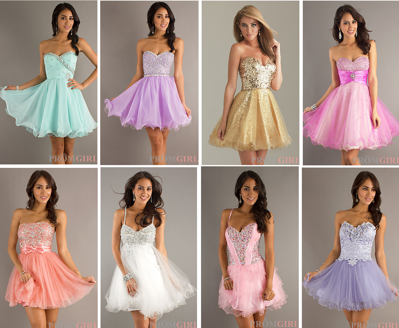 Cute Prom Dresses and Hairstyles