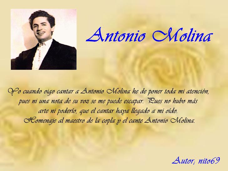 HOMENAJE PARA ANTONIO MOLINA