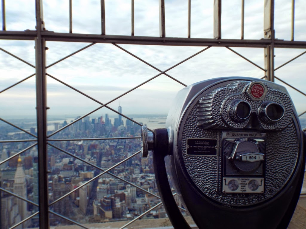 View from the Empire State Building, New York - photo by Katie @ Second-Hand Hedgehog travel blog
