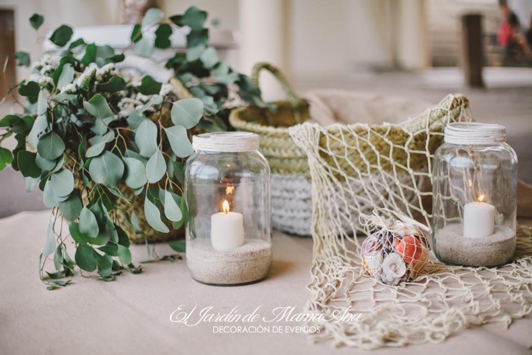 Arrecife boda en la playa el jard n de mam ana for Decoracion del hogar con velas
