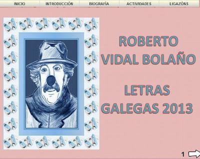 Roberto Vidal Bolaño.  Libro Lim Letras Galegas 2013