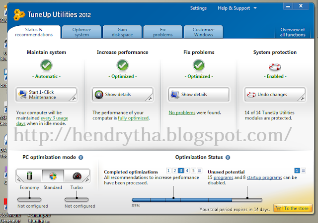 Download TuneUp Utilities 2012