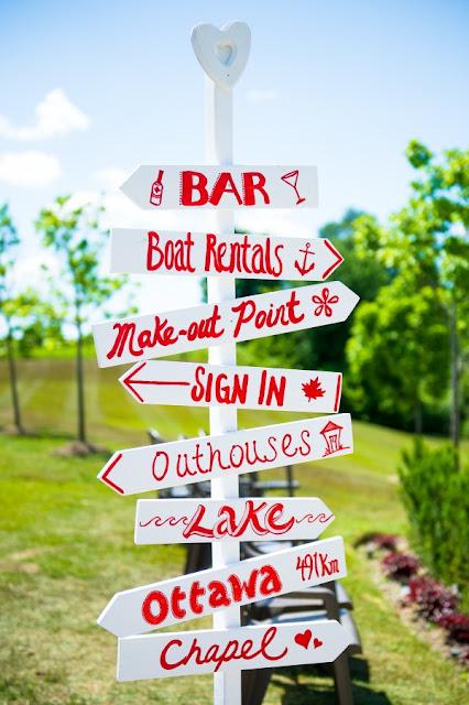 Coca Cola Theme Wedding: Signs