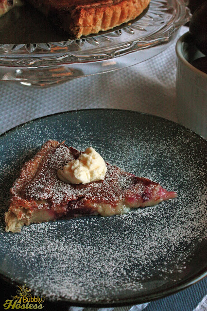 ... Bubbly Hostess: Brown Butter Plum Tart with Vanilla Mascarpone Cheese