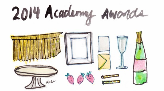 2014 Academy Awards Party on envelopes used at academy awards