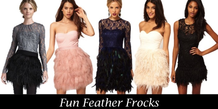 feather party dresses