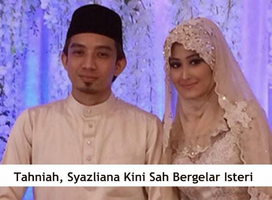 Tahniah, Syazliana Kini Sah Bergelar Isteri