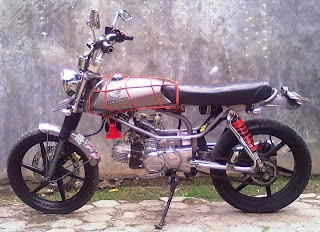modifikasi honda win 2013