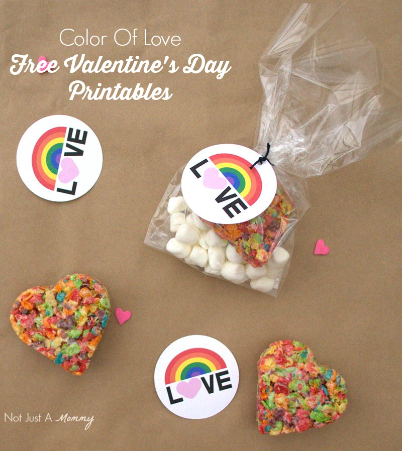 Have some colorful fun for Valentine's Day