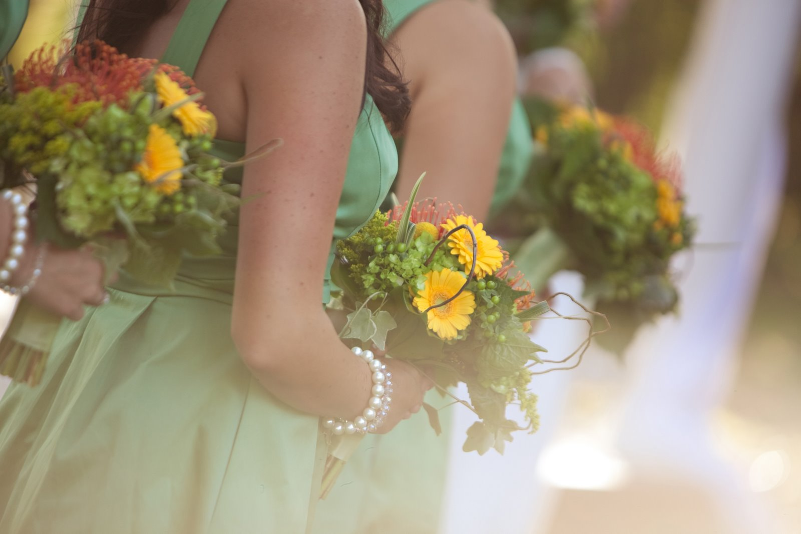 Wedding dress with yellow accents favorite wedding dresses
