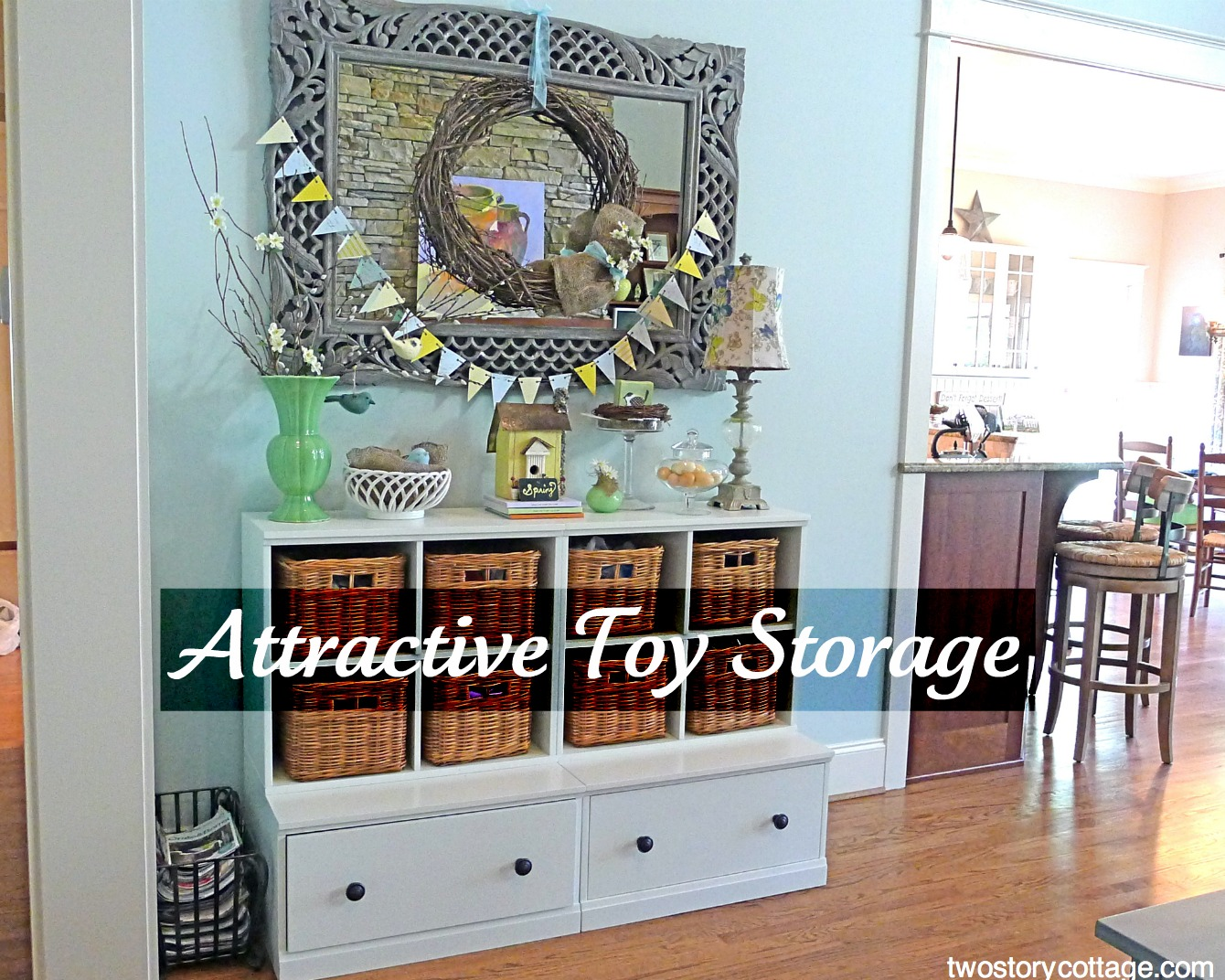 Creative toy storage ideas for living room 2017 2018 for Living room toy storage
