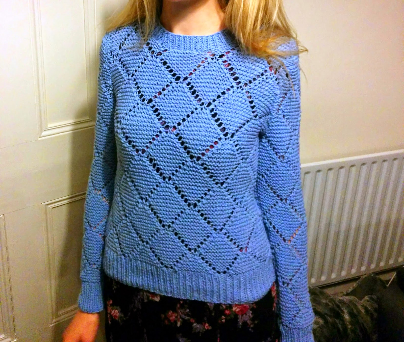 I knitted the Pandora Diamond Lace Sweater! | Lauren Loves Blog