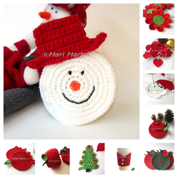 Christmas Crochet Patterns : Thinking of Christmas Crochet Coasters Snowman ~ Crochet Colorful