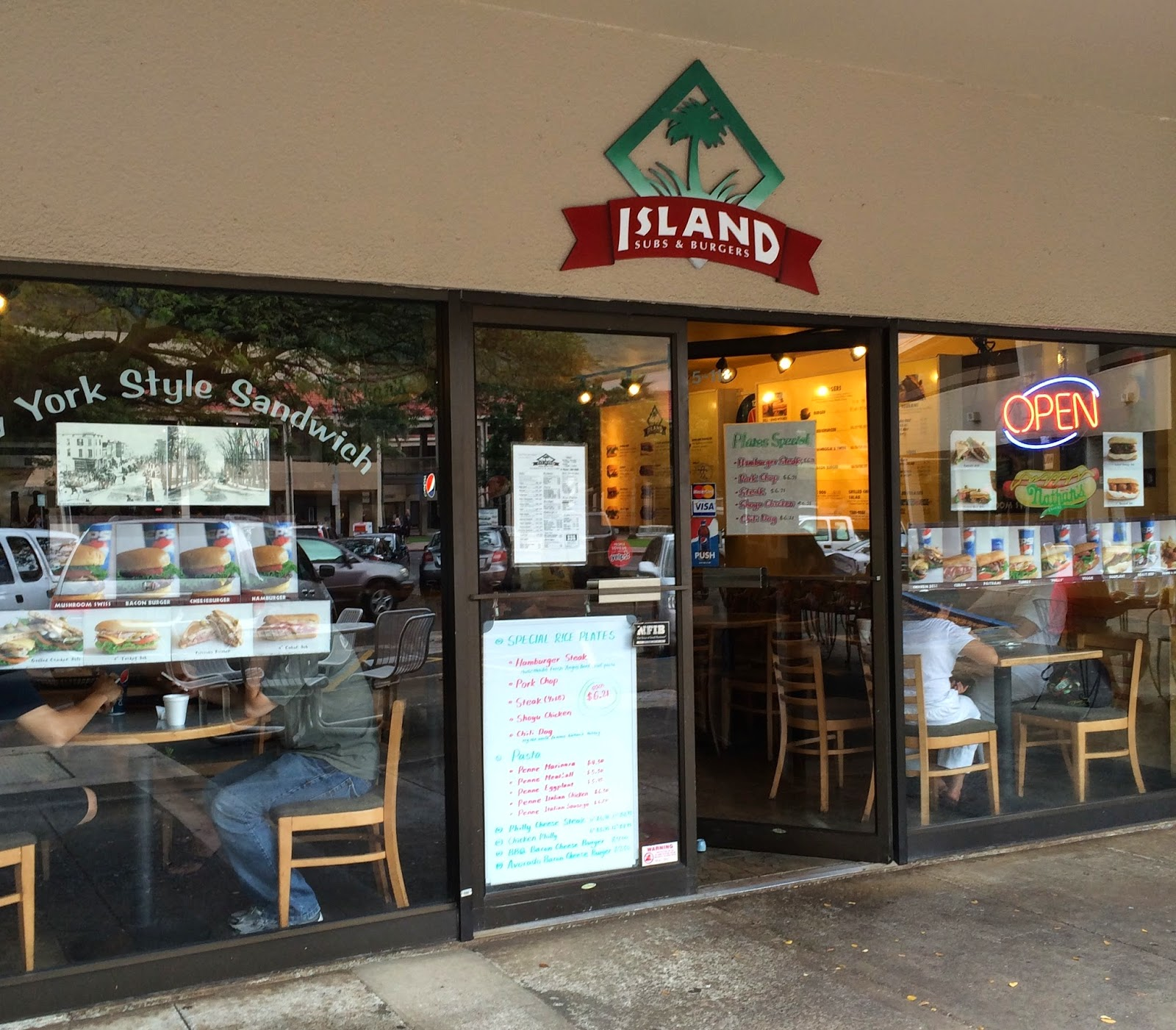 Island Sub And Burgers In Manoa Marketplace