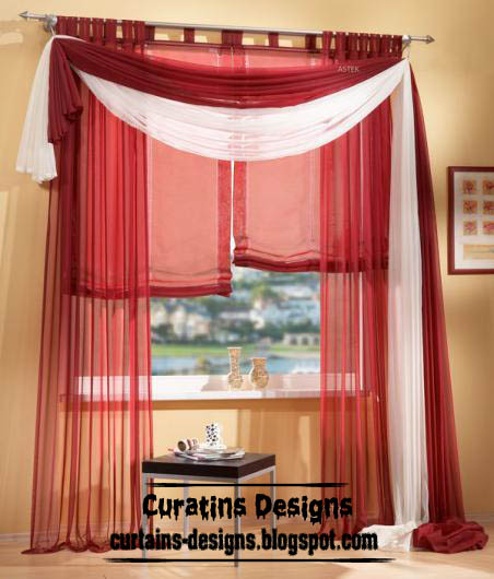 American red curtain scarf from chiffon fabric, scarf curtains, American curtains