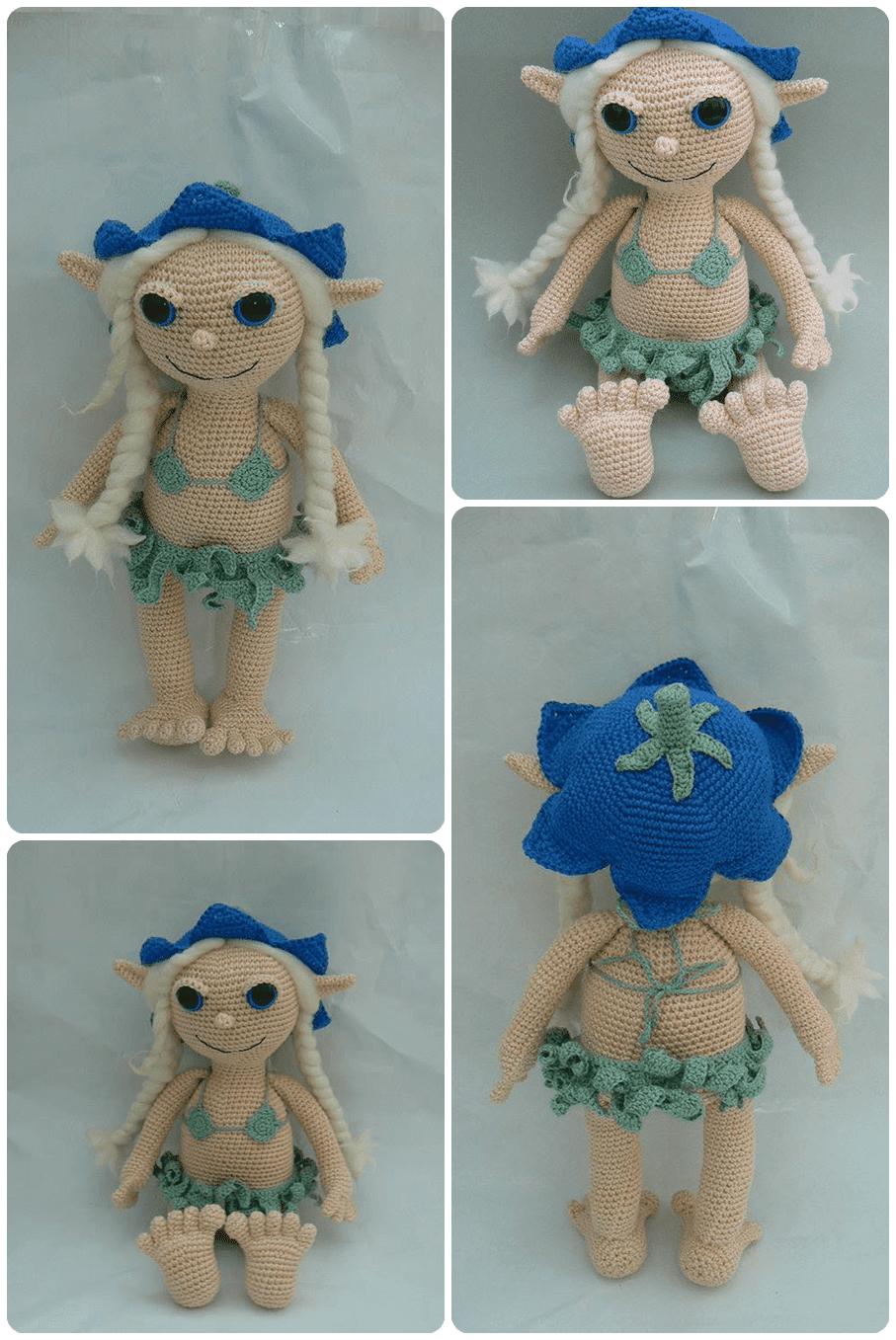 Amigurumi Hawai Doll : Amigurumi hawai li lana doll knittting crochet