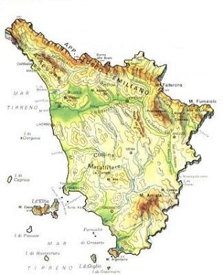 Mappa della Città Toscana